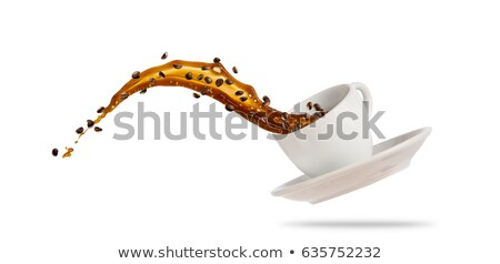 Koffie witte bruin Stockfoto © liolle