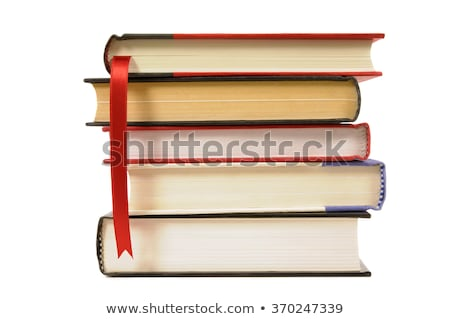 Several bookmarks in a hardcover book isolated on white background stock photo © johnkwan