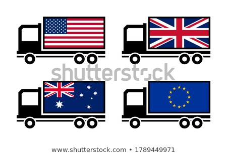 Trade War Business Collection Icons Set Vector Stock photo © pikepicture