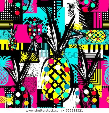 Fruits seamless vector color pattern Stock photo © barsrsind