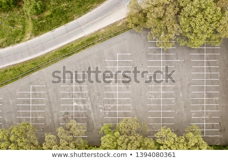 Beautiful Empty parking lots, aerial view. View from above Stock photo © galitskaya