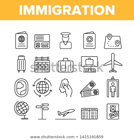 Imigração refugiado elementos vetor móvel Foto stock © pikepicture