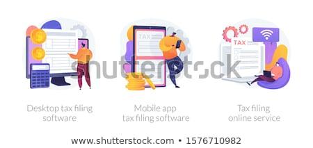 デスクトップ 税 ソフトウェア ベクトル ストックフォト © RAStudio