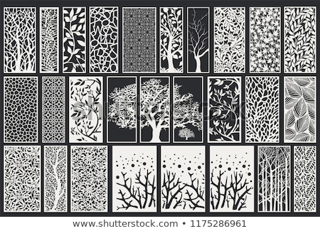 Laser gesneden patroon stencil sjabloon decoratief Stockfoto © sanyal