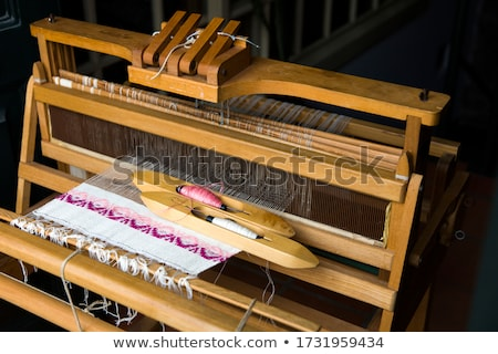 Old traditional weaving machine in Funchal at Madeira island in  Stock photo © boggy