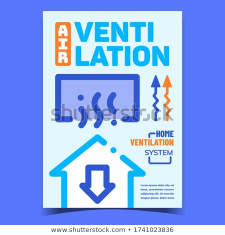 Air Ventilation Creative Advertising Banner Vector Stock photo © pikepicture