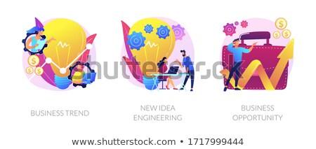 Novo idéia engenharia vetor metáfora implementação Foto stock © RAStudio