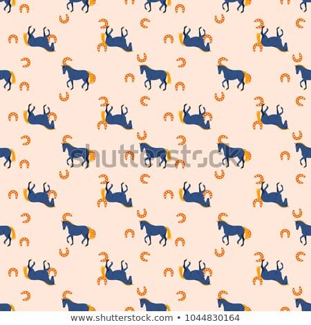馬 馬蹄 シームレス 桃 色 パターン ストックフォト © yopixart