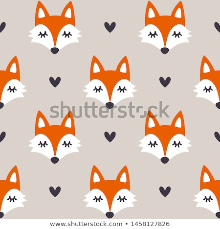 Cute Fox sin costura simple vector patrón Foto stock © yopixart