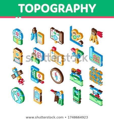 Topographie recherche isométrique vecteur équipement Photo stock © pikepicture