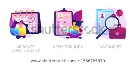Modern álláskeresés vektor metafora személyzet online Stock fotó © RAStudio