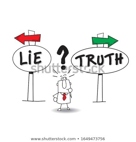 Telling lies vector concept metaphor Stock photo © RAStudio