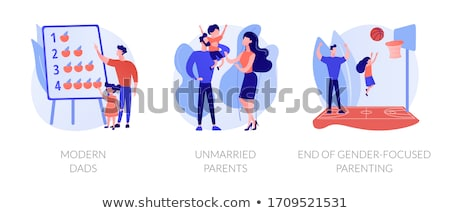 Unmarried parents abstract concept vector illustration. Stock photo © RAStudio