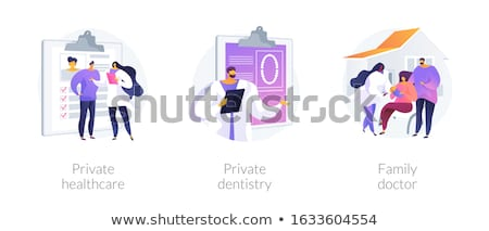 Private healthcare abstract concept vector illustration. Stock photo © RAStudio