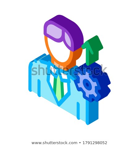 Human Productivity Growth isometric icon vector illustration Stock photo © pikepicture