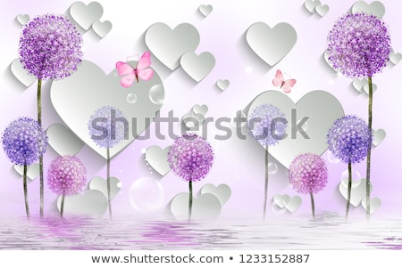 love background with dandelion stock photo © hermione