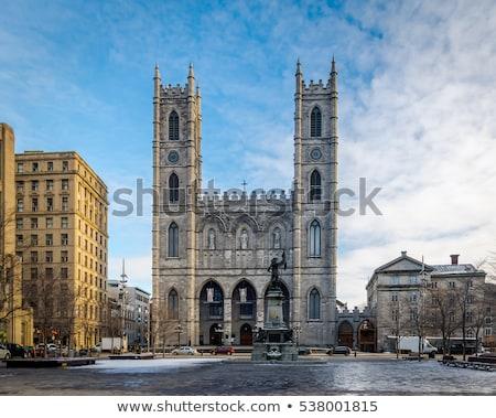Bazilika eski Montreal Gotik Stok fotoğraf © aladin66