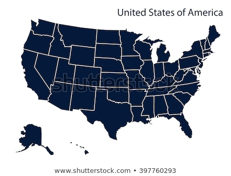 Zdjęcia stock: Vector Map Of The United States Of America