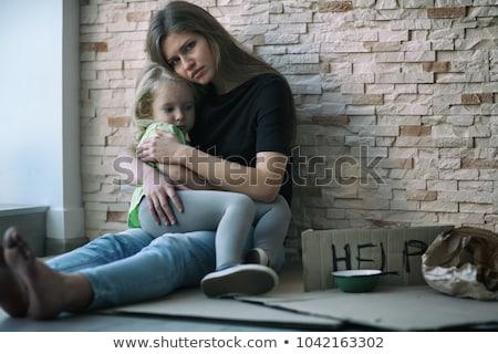 Сток-фото: Homeless Woman Asking Charity