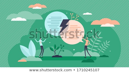 Abstract dialog illustration Stock photo © orson