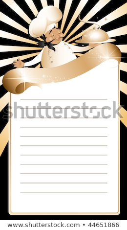Golden Chef Menu Template Stock photo © illustrart