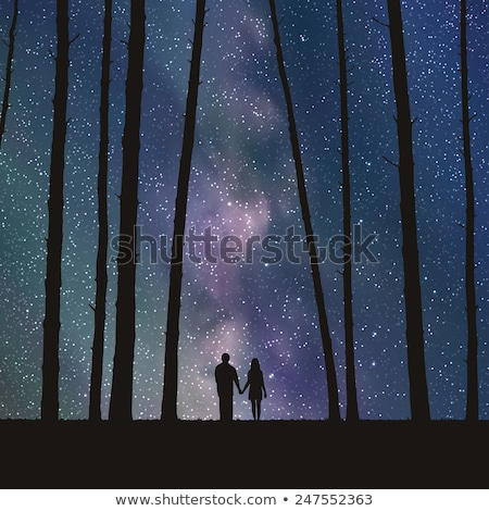 Couple under starry sky Stock photo © leeser