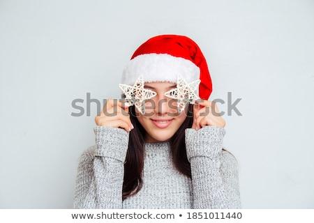 jeunes · brunette · femme · chapeau · blanche - photo stock © Rob_Stark