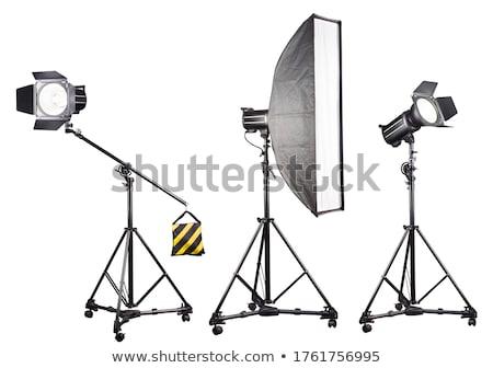Isolado pequeno portátil estúdio flash branco Foto stock © zakaz