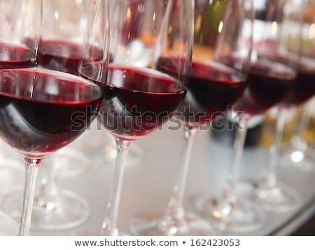 vino · tinto · gafas · vino · resumen · vidrio · beber - foto stock © Mcklog