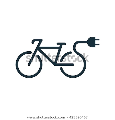 Electric bicycle icons Stock photo © oblachko