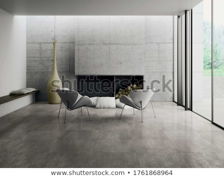boş · iç · mimari · ışık · beton · duvar · 3D - stok fotoğraf © imaster