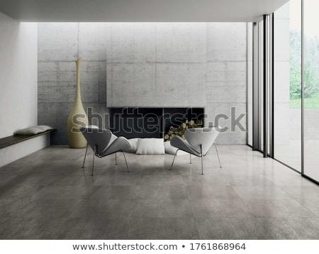 velho · grunge · cinza · interior · parede · pintar - foto stock © imaster