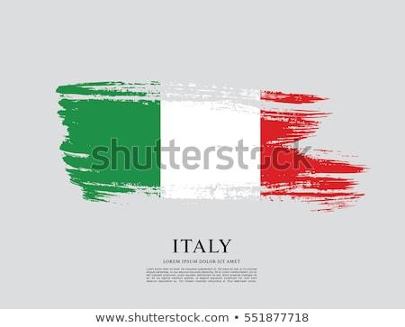 Гранж флаг Италия старые Vintage гранж текстур Сток-фото © HypnoCreative