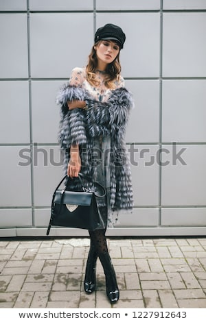 Winter Fur Fashion Stock photo © stryjek