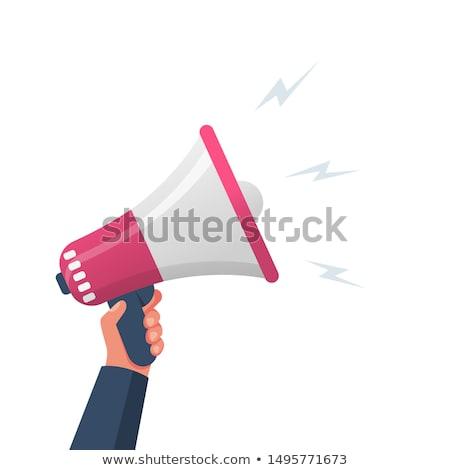 Man with loudspeaker Stock photo © photography33