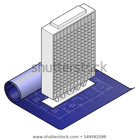 Engineer unrolling a technical drawing Stock photo © photography33