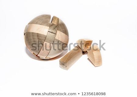 wooden 3D puzzle Stock photo © gewoldi
