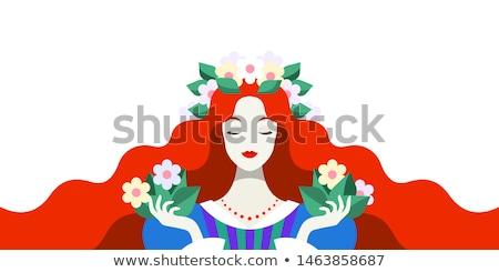 profile pretty redhead woman stock photo © stryjek
