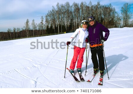 older couple with skis stock photo © photography33