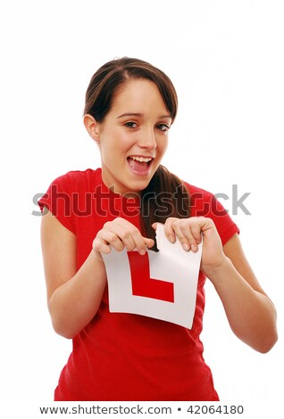 Young women holding learner plate Stock photo © photography33