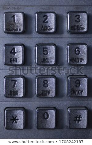 Metallic phone keypad Stock photo © boroda