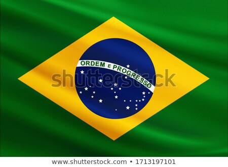 Miniature Flag of Brazil (Isolated) stock photo © bosphorus