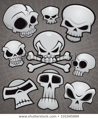 cartoon skull collection stock photo © fizzgig