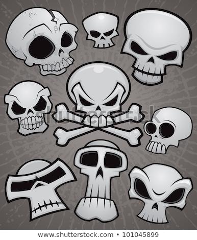 Desenho animado crânio coleção vetor crânios Foto stock © fizzgig