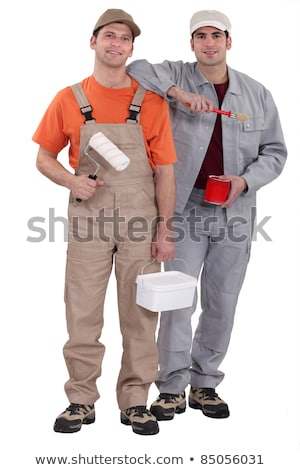 Stock photo: Painting and decorating duo