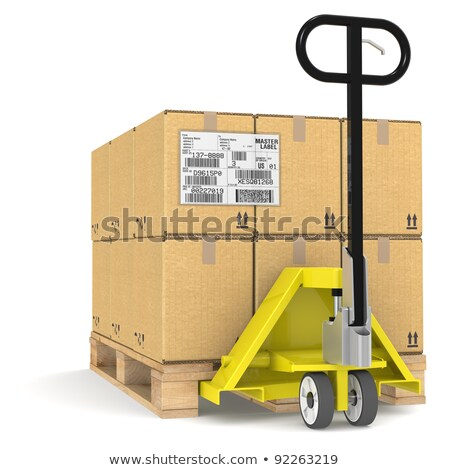 pallet truck with shipping label edi stock photo © johanh