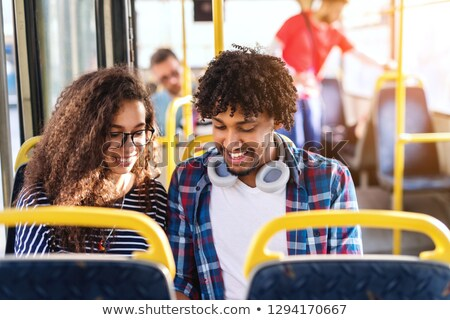Couple on tram Stock photo © photography33