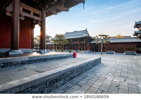 Chinese Temple Paved Square Stock photo © davidgn