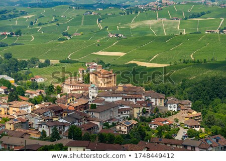 Town of Barolo among hills. Piedmont, Northern Italy. Stock photo © rglinsky77