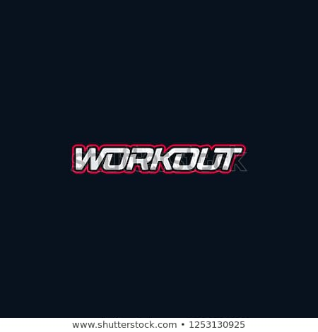 Stock photo: Crossfit athletics graphics